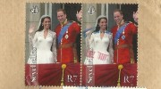 Seychellen Briefmarke, William und Kate