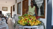 Edna La Digue Seychelles Fresh Fruit frisches Obst