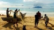 Seychellen, Angeln & Fischen, Vorbereiten des Netzes