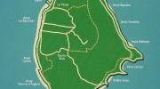 Seychellen, Landkarte La Digue
