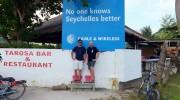 Seychellen, Volker und Olaf auf La Digue