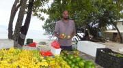 Seychellen, Mahé-Nord, Obstverkäufer Randy