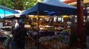 Seychellen, Mahé Nord, Victoria, Selwyn Clarke Market Panorama