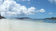 Seychellen, Praslin, Bootsausflug Curieuse Panorama