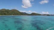 Seychellen, Praslin, Bootsausflug, Panorama