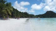 Seychellen, Praslin, Cote d`Or Anse Volbert Panorama