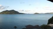 Seychellen, Praslin Jetty, Chalets Cote Mer, Meerblick Baie Ste Anne Panorama