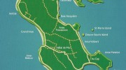 Seychellen, Landkarte Praslin