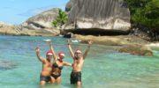 Seychellen, Weihnachtsfoto Felicite