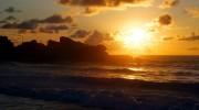 Grande Anse La Digue Seychellen Sonnenaufgang