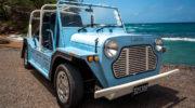 Mini Moke Mietwagen Rental Car Praslin Seychelles